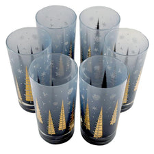 Gay Fad Winter Trees Collins Glasses | The Hour Shop Vintage