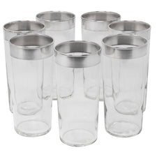 Vintage Dorothy Thorpe Sterling Band Large Collins Glasses | The Hour Shop