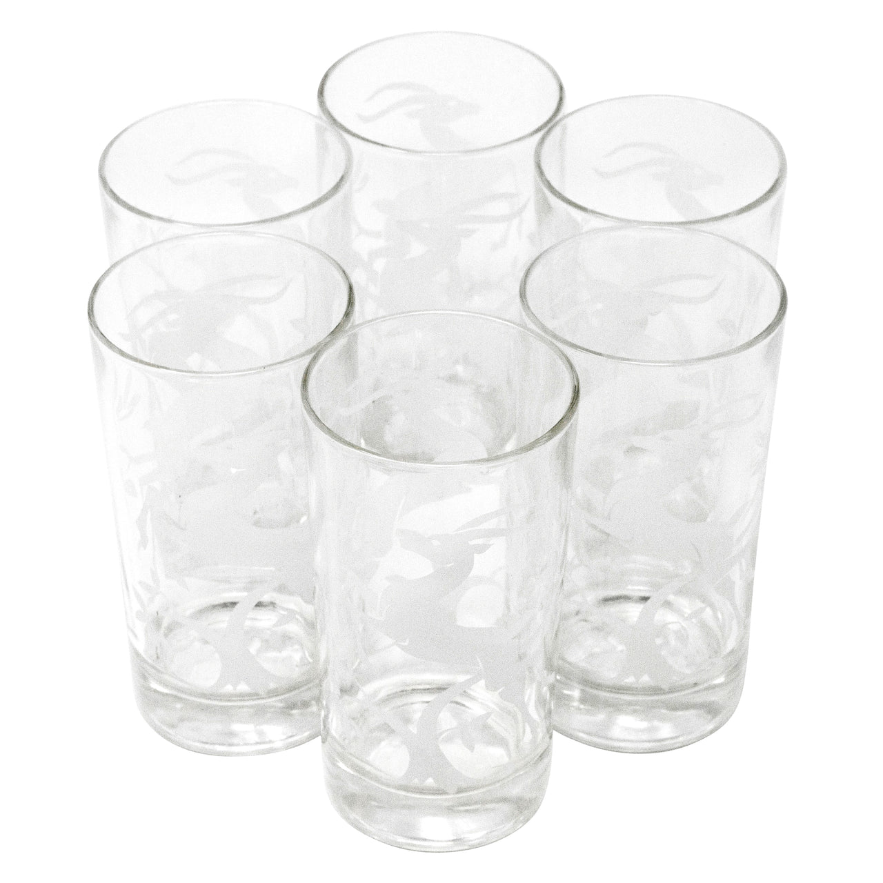 Hazel Atlas White Gazelle Collins Glasses | Set of 6