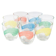 Vintage Pastel Plumes Rounded Rocks Glasses | The Hour Shop
