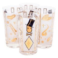 Vintage Top Hat Musical Collins Glasses | The Hour Shop
