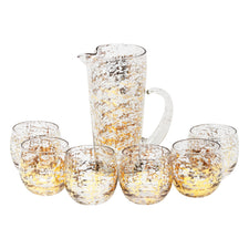 Vintage Mid Century Gold Shimmer Cocktail Pitcher Set | The Hour