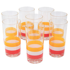 Vintage Georges Briard Cabana Stripe Collins Glasses | The Hour