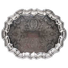 Vintage Eales Silver Plate Serving Tray | The Hour Shop