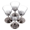 Vintage Mercury Stem Cocktail Glasses top | The Hour Shop