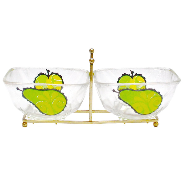 Georges Briard 2 Fruit Bowls Caddy Set, The Hour Shop