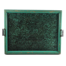 Green & Black Handled Tray