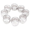 Vintage Dorothy Thorpe Sterling Atomic Splash Serving Set Glasses Top | The Hour Shop