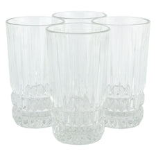 Vintage Fostoria Cut Clear Glass High Ball Glasses | The Hour