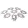Vintage Dorothy Thorpe Sterling Silver Atomic Splash Serving Set Appetizer Plates | The Hour
