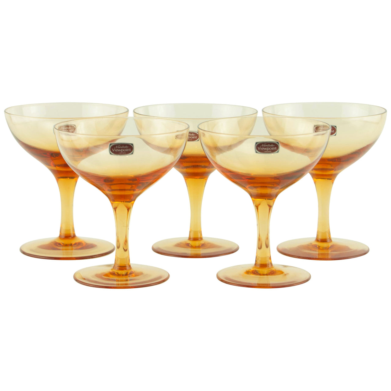 Noritake Amber Coupe Glasses | The Hour Shop Vintage