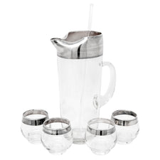 Vintage Dorothy Thorpe Sterling Cocktail Pitcher Set | The Hour Shop