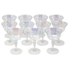 Vintage Mid Century West Virginia Glass Iridescent Cocktail Glasses | The Hour