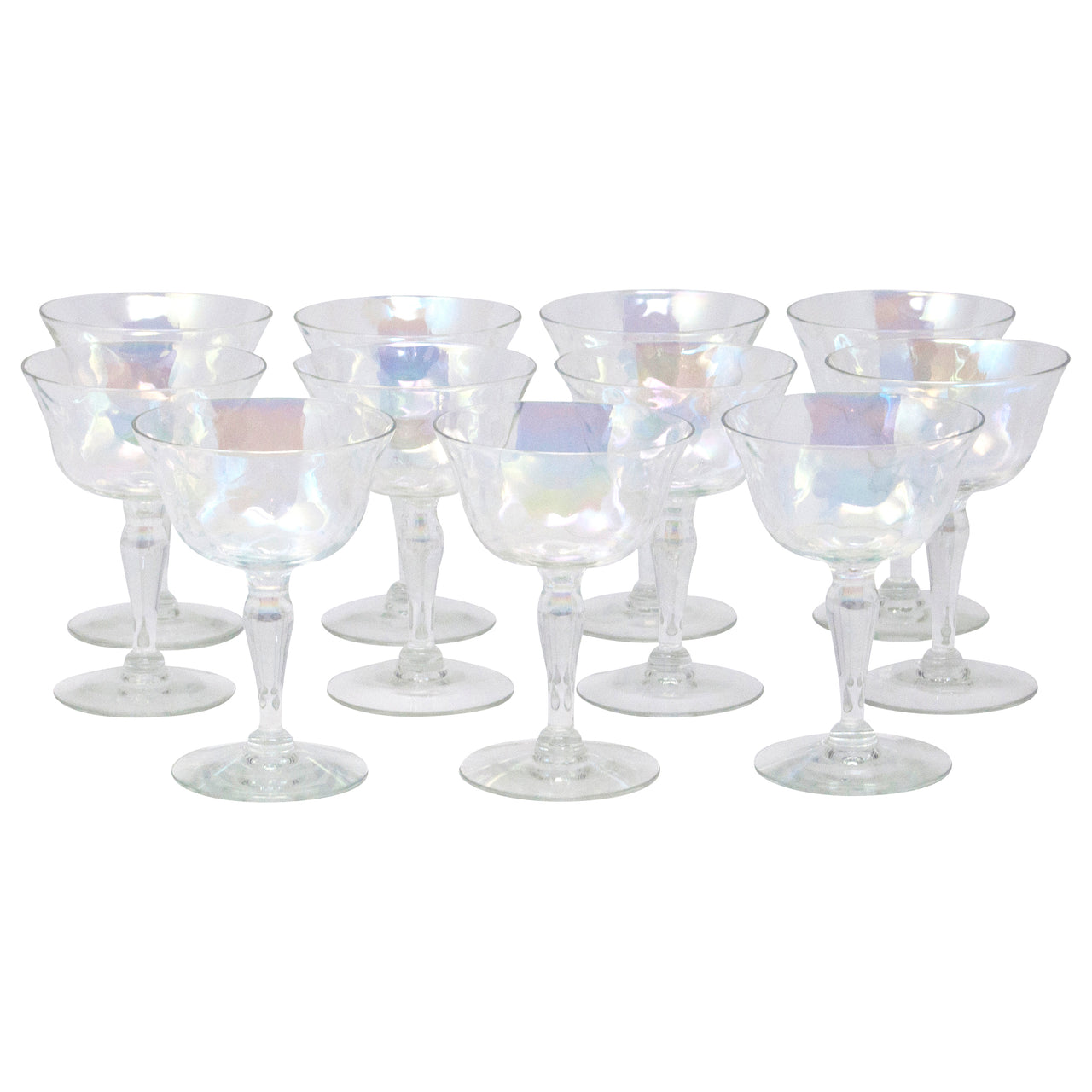 Vintage West Virginia Glass Iridescent Cocktail Glasses | The Hour Shop