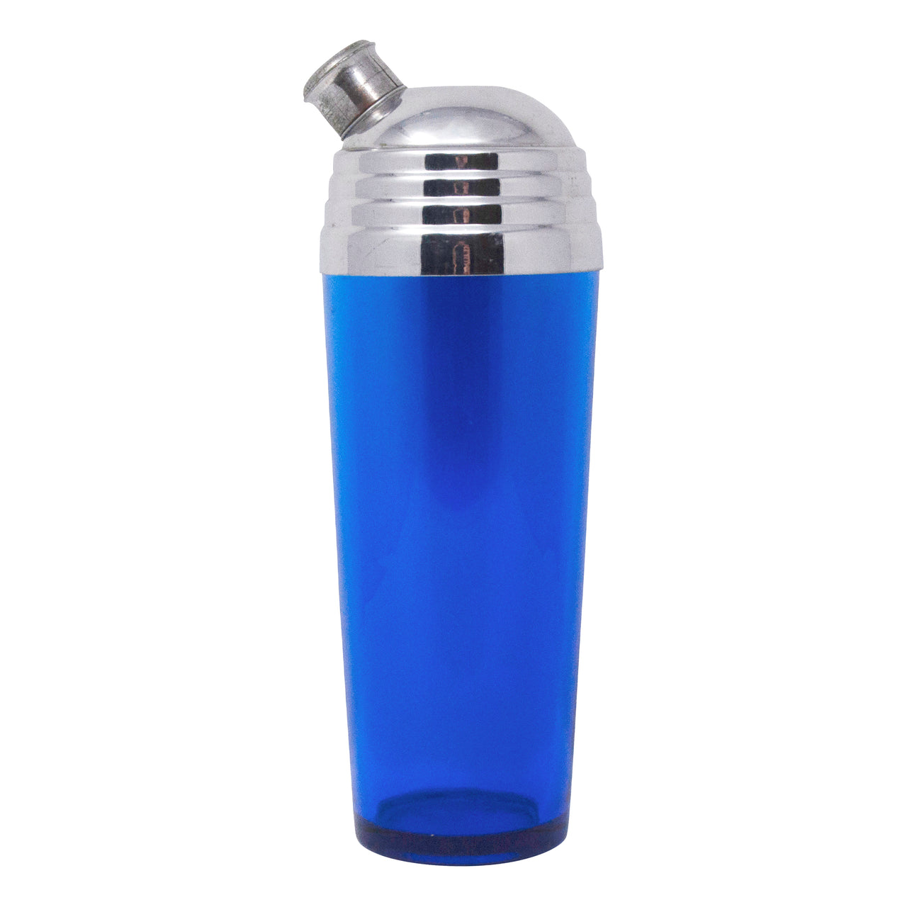 Vintage Art Deco Cobalt Stepped Lid Cocktail Shaker | The Hour Shop