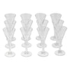 Vintage Clear Trumpet Cordial Glasses Top | The Hour Shop