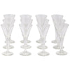Vintage Clear Trumpet Cordial Glasses | The Hour Shop