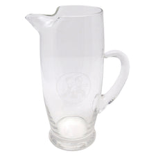 Vintage 1930s Etched Boys Clear Cocktail Pitcher | The Hour Shop