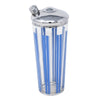Vintage Vertical Blue Stripes Cocktail Shaker | The Hour Shop