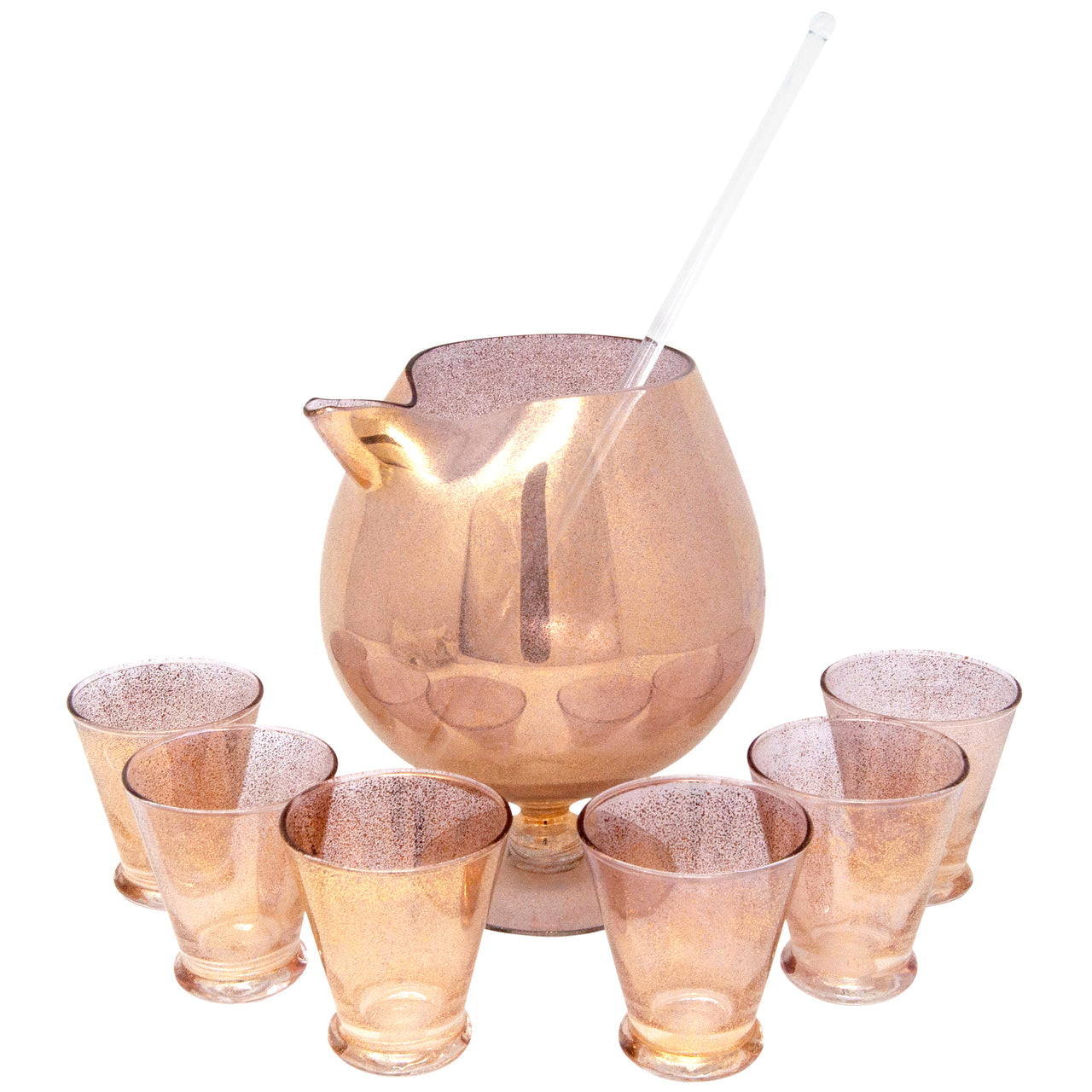 Vintage Shimmer Gold Cocktail Pitcher Set | The Hour Shop