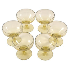 R. Wright Yellow Cordial Glasses | The Hour Shop Vintage Glass