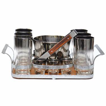 Mercury Fade Glass Caddy Set, The Hour Shop Vintage