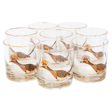 Vintage Couroc Roadrunner Rocks Glasses | The Hour Shop