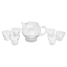 Vintage Eva Zeisel Etched Lines Cocktail Pitcher Set | The Hour Shop