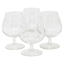 Vintage Etched Flower Snifter Glasses | The Hour Shop