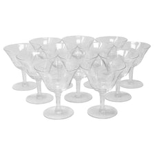Vintage CG Quartex Etched Rose Cocktail Glasses | The Hour Shop