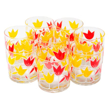 Vintage Culver Tulip Rocks Glasses | The Hour