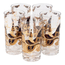 Vintage Georges Briard Jockey Collins Glasses | The Hour Shop