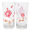 Vintage Red Roses & White Leaves Highball Glasses Pattern | The Hour Shop