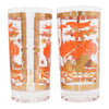 Vintage Fred Press Orange Ships Collins Glasses Pattern | The Hour Shop
