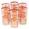 Vintage Fred Press Orange Ships Collins Glasses | The Hour Shop