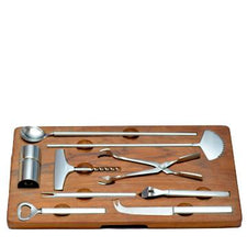 Midcentury Vintage Georg Jensen Bar Tool Set, The Hour