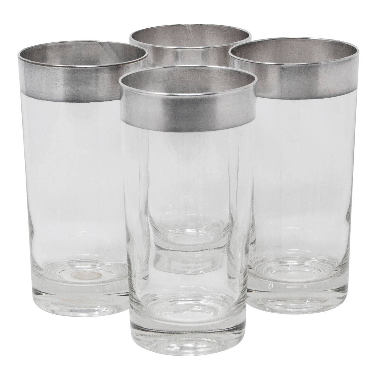 Vintage Dorothy Thorpe Sterling Band Collins Glasses | The Hour Shop