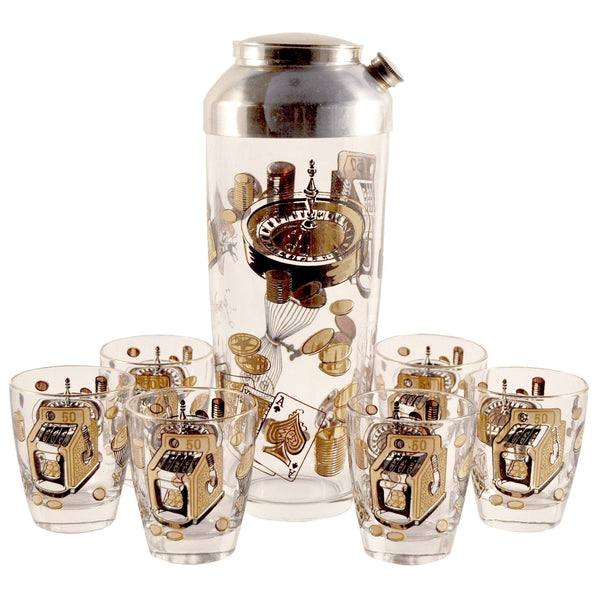 Vintage Las Vegas Cocktail Shaker Set, The Hour Shop