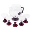 Vintage Amethyst Footed Cocktail Pitcher Set Top | The Hour Shop