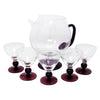 Vintage Amethyst Footed Cocktail Pitcher Set | The Hour Shop