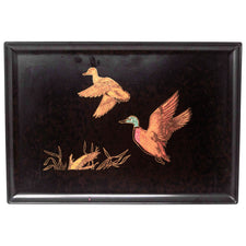 Vintage Couroc Flying Ducks Tray | The Hour Shop