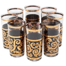 Culver Gold & Black Baroque Collins Glasses