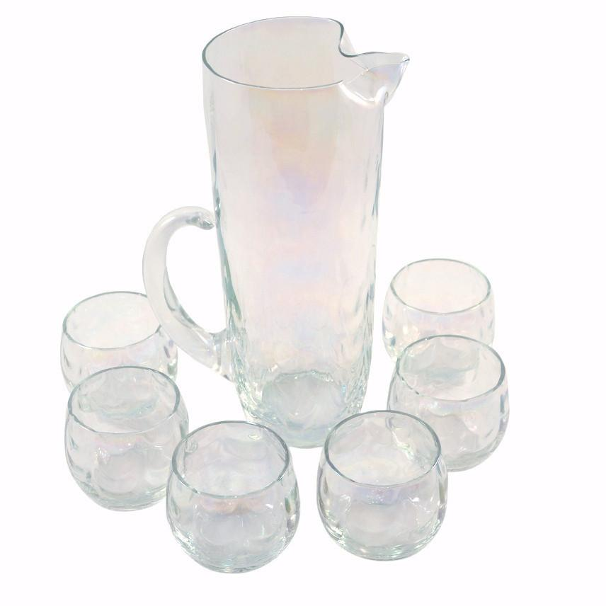 Vintage Draping Iridescent Cocktail Pitcher Set , TheHourShop.com