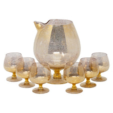 Vintage Gold Fleck Cocktail Pitcher & Snifter Set | The Hour