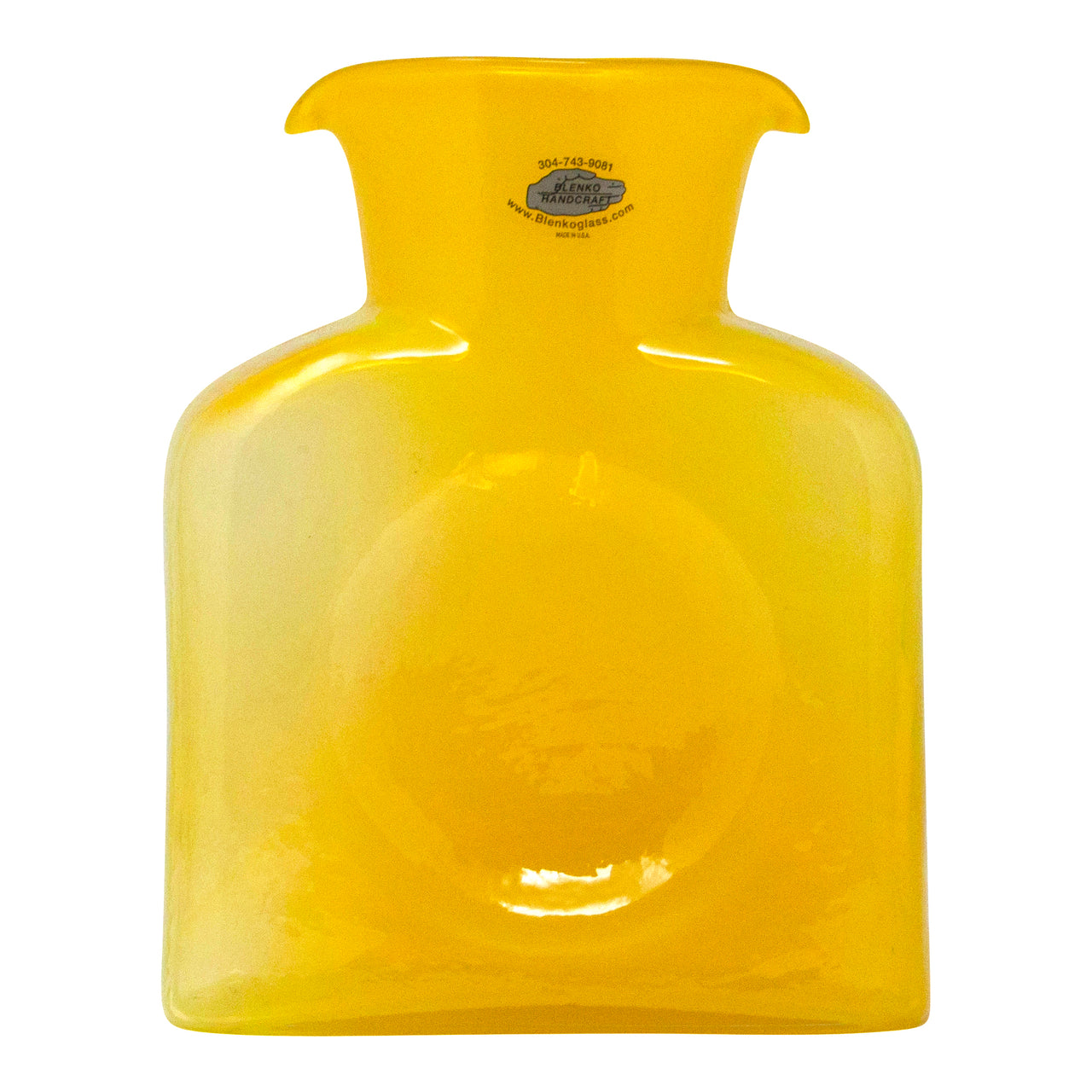 Vintage Blenko Lemon Yellow Water Pitcher (Signed) | The Hour Shop