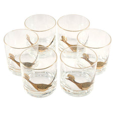 Vintage Couroc Roadrunner Rocks Glasses, The Hour Shop