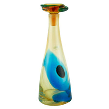 Vintage Blenko Kaleidoscope Red Dot Decanter | The Hour Shop