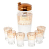 Vintage Frosted Gold Band Art Deco Cocktail Shaker Set | The Hour Shop