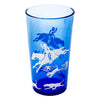 Vintage Hazel Atlas Cobalt Fox Hunt Scene Cocktail Shaker Set Tumbler | The Hour Shop
