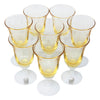 Vintage Yellow Milk Glass Cordial Liquor Glasses Top | The Hour Shop
